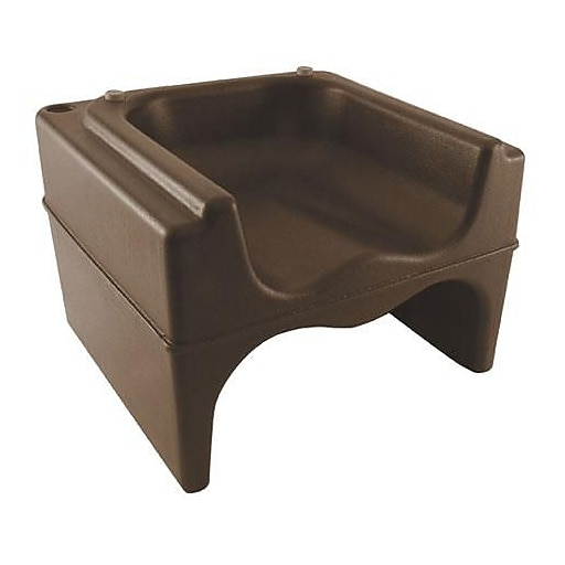 "Cambro Brown Booster Seat, 9 1/4"" H x 11 3/4"" Wx 11 1/4"" D, Dark Brown, 1/Pack (200BC131)"