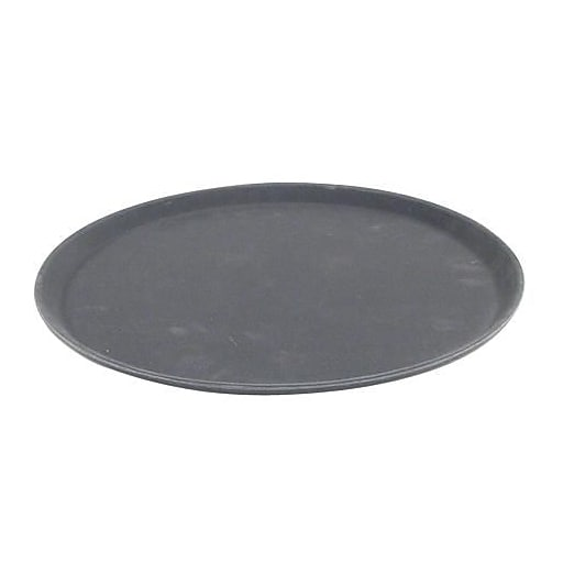 "Carlisle 14"" Griptite™ Round Black serving Tray, 14"" Dia, Black (1400GR004)"