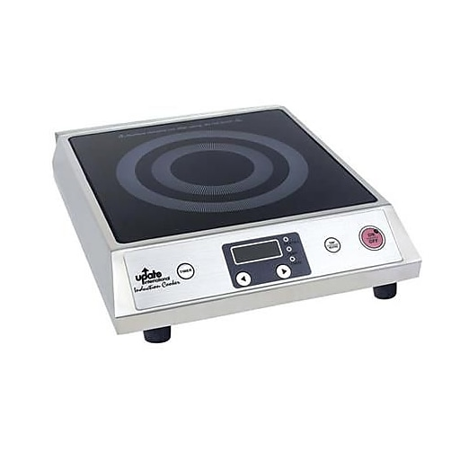 """Update International Induction Cooker, Silver, 15 1/2"""" L x 12"""" W x 4 1/4"""" H"""