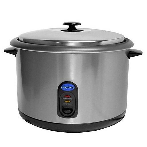 "Globe 25 Cup Chefmate® Cooker/Warmer, Silver, 16 1/2"" L x 16 1/2"" W x 11 1/3"" H"