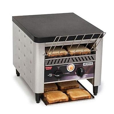 Nemco 2 Slice Conveyor Toaster, 300 Slices/Hour, Grey, 18
