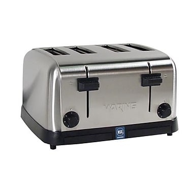 Waring 4 Slot Medium Duty Pop-Up Toaster, Silver, 12 1/2