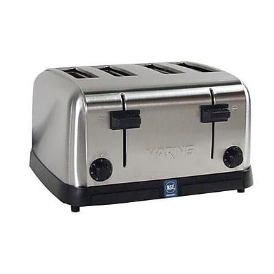 Waring 4 Slot Medium Duty Pop-Up Toaster, Silver, 12 1/2