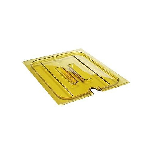 "Cambro 1/3 Size H-Pan™ Notched Cover, 12 3/4"" L x 6 15/16"" W, Amber, 6/Pack (30HPCHN150)"