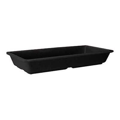 GET Enterprises Milano Black 16 Oz. Entree Dish, 12/Pack (ML-121-BK)