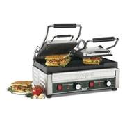"""Waring Italian Ottimo™ Dual Panini Grill, Silver, 9 1/4"""" H x 18 3/4"""" W x 15 1/2"""" D"""