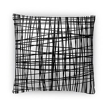 Kavka Web Fleece Throw Pillow; 16'' H x 16'' W x 4'' D