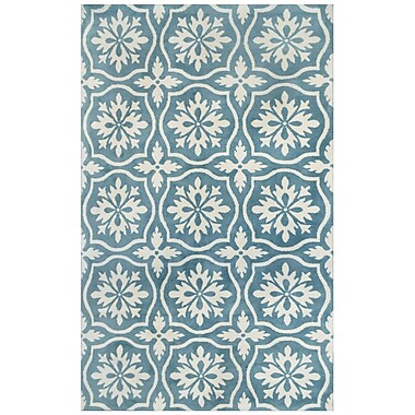 Tuft & Loom Microplush Blue Area Rug; 5' x 8'