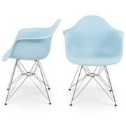 Belleze Arm Chair (Set of 2); Blue
