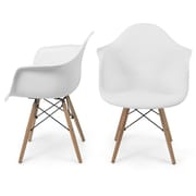 Belleze Arm Chair (Set of 2); White