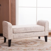 Warehouse of Tiffany Toni Upholstered Storage Entryway Bench