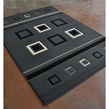 Rug Tycoon Antracite/Black Area Rug; 5'3'' x 7'2''