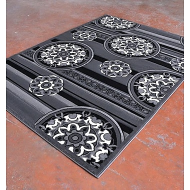 Rug Tycoon Antracite/Black Area Rug; 7'11'' x 9'10''