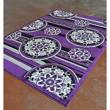 Rug Tycoon Purple/Black Area Rug; 5'3'' x 7'2''