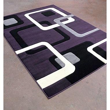 Rug Tycoon Purple/Black Area Rug; Runner 2' x 7'2''