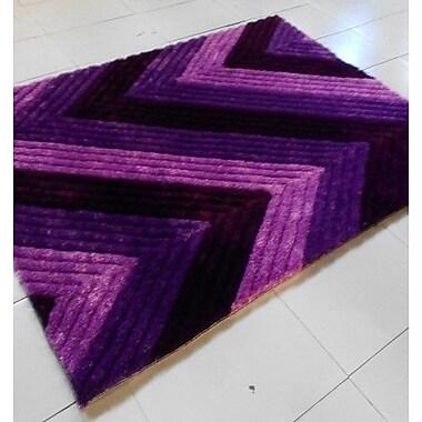 Rug Tycoon Purple Area Rug; 5'3'' x 7'2''