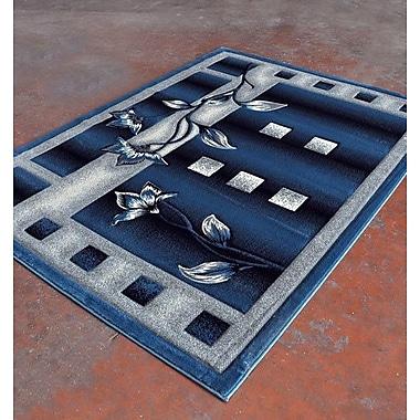 Rug Tycoon Light Blue/Black Area Rug; 7'11'' x 9'10''