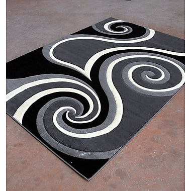 Rug Tycoon Antracite/Black Area Rug; 7'11'' x 9'10''