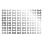 Innovative Stencils Polka Dot Wall Decal (Set of 150); Silver