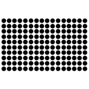 Innovative Stencils Polka Dot Wall Decal (Set of 150); Black