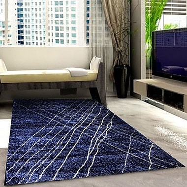 Rug Tycoon Dark Blue Area Rug; 7'11'' x 9'10''