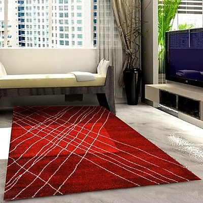 Rug Tycoon Red Area Rug; 5'3'' x 7'2''