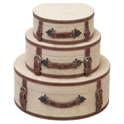 UMA Enterprises 3 Piece Cassia Decorative Box Set