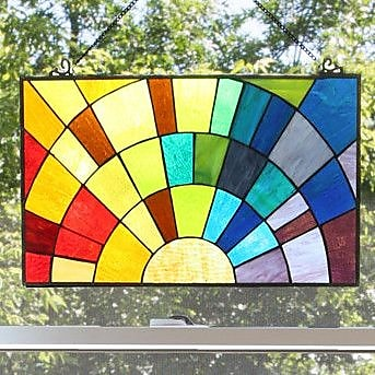 River of Goods Stained Glass Rays of Sunshine Window Panel WYF078279500639