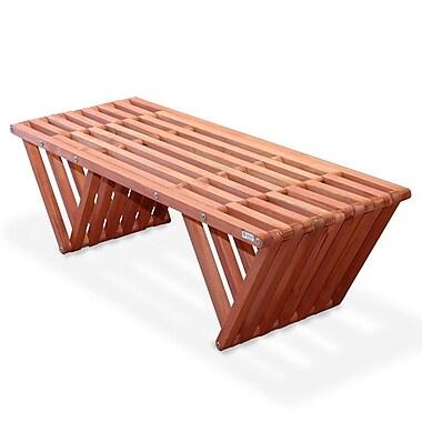 Glodea Eco Friendly Bench X90 Made in USA; Buffalo Wing