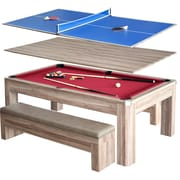 Hathaway Newport 7-ft Pool Table Combo Set w/Benches (BG2535P)