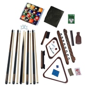 Hathaway Deluxe Billiards Accessory Kit Walnut Finish (BG2540W)