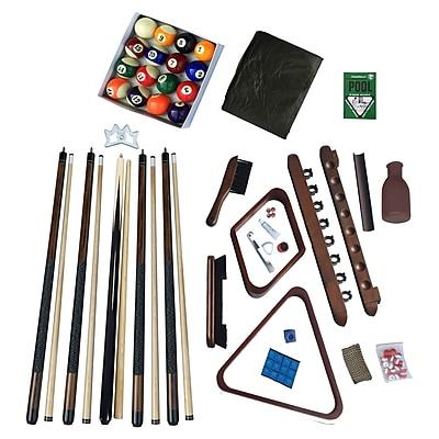 Hathaway Deluxe Billiards Accessory Kit Walnut Finish (BG2540W)