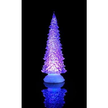 Hi-Line Gift – Arbre scintillant avec de l'eau à l'intérieur, lumières DEL avec changement de couleur, 12,5 po