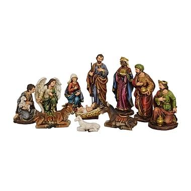 Hi-Line Gift –81890, Nativité et trois Rois Mages, ensemble de 11 morceaux, 12 po