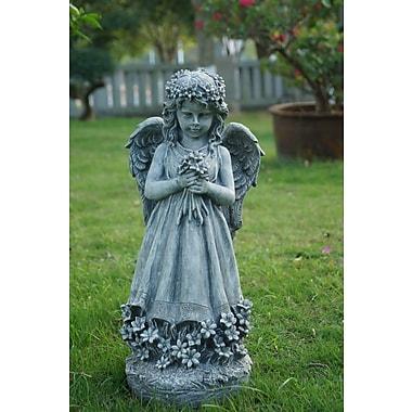 Hi-Line Gift Angel Holding Flowers