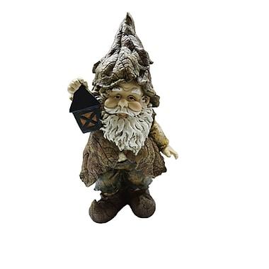 Hi-Line Gift – Gnome tenant une lanterne, 14 po