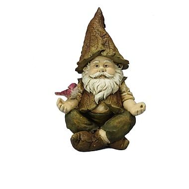 Hi-Line Gift Gnome Sitting Lotus with Bird