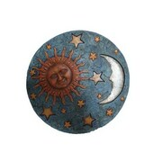 Hi-Line Gift Sun,Moon, & Stars Stepping Stone, 2-Piece