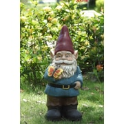Hi-Line Gift Gnome Holds Butterfly