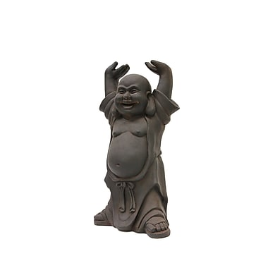 Hi-Line Gift Buddha with Hands Up, Clayfibre