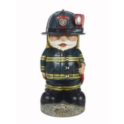 Hi-Line Gift – Gnome pompier avec boyau d'arrosage, DEL solaire, 11,75 po