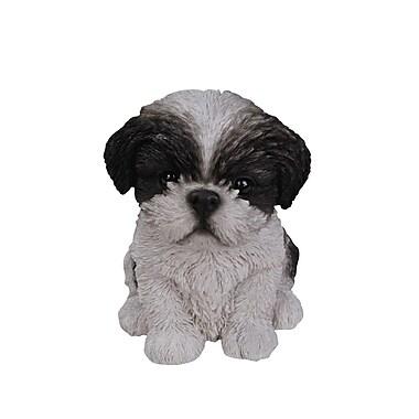 Hi-Line Gift – Statue Amis animaux, chiot Shih Tzu, noir et blanc