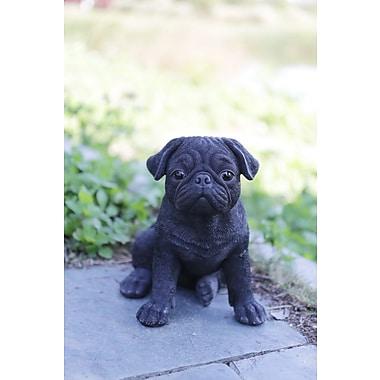 Hi-Line Gift Pet Pals, Pug Puppy, Black