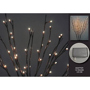 Hi-Line Gift – Lumières florales, branche de saule, adaptateur c.a., 2 pièces minimum