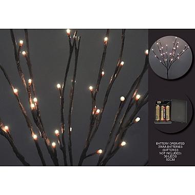 Hi-Line Gift – Lumières florales, branche de saule, batterie avec minuterie