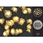 Hi-Line Gift – 40 lumières florales 37332, rose blanche, 40 lumières, adaptateur c.a.