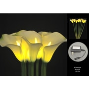Hi-Line Gift 37343 Floral Lights, White Calla Lilly, 8 Lights, AC Adaptor