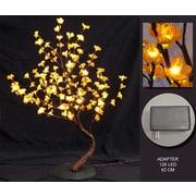 Hi-Line Gift – 128 lumières florales, bonsaï orange, 128 DEL, 37368