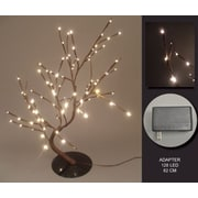 Hi-Line Gift 37370, 128 Floral Lights, Willow Bonsai Tree , 128 LED Lights