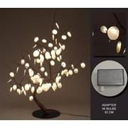 Hi-Line Gift – 96 lumières florales, Bonsaï dollar d'argent avec adaptateur c. a., 96 DEL (37371)